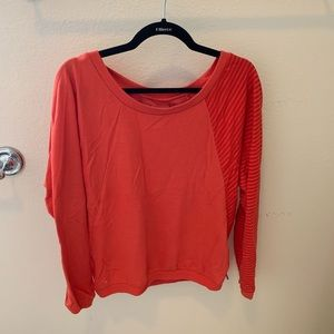Red orange Volcom strip pullover